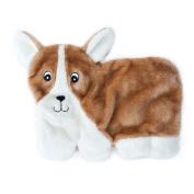 ZippyPaws Squeakie Pup 11-Squeaker No Stuffing Plush Dog Toy, Corgi