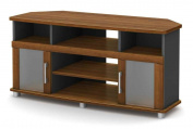 South Shore City Life Corner TV Stand, for TVs up to 130cm , Morgan Cherry and Charcoal