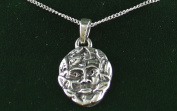 Toucan of Scotland .925 Sterling Silver Celtic Scottish Green Man Necklace and Pendant