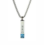 Bro Quantum Blue Crystal Urn Pendant - Memorial Ash Keepsake - Cremation Jewellery