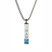 Dad Quantum Blue Crystal Urn Pendant - Memorial Ash Keepsake - Cremation Jewellery