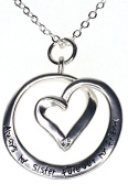 sentimental pendant,necklace always my sister forever my friend