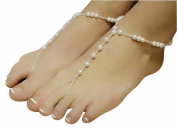 YipGrace Women's Cute Beach Imitation Pearl Anklet Chain