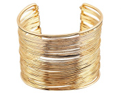 YipGrace Women's Cool Multilayer Open Cuff Bracelets
