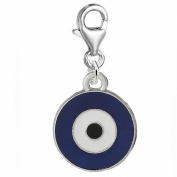 SEXY SPARKLES Women's Evil Eye Clip On Pendant For Charm Jewellery W/ Lobster Clasp