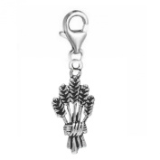 SEXY SPARKLES Women's Barley Clip On For Bracelet Charm Pendant Jewellery W/ Lobster Clasp