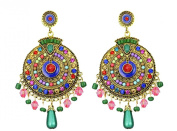 YipGrace Women's Earrings Bohemia Style Hollow Stud