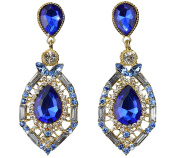 YipGrace Women's Drop Shape Rhinestone Inlay Earrings