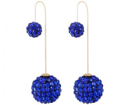 YipGrace Women's Ball Pendants Rhinestone Earrings