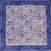Rajasthan Block Print Cotton Table Napkin 46cm x 46cm Blue