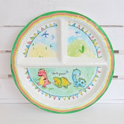 BABY CIE DANI Etrele Premier Round Textured Sectioned Plate