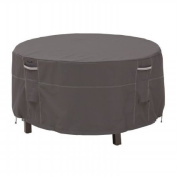 Classic Accessories Ravenna Bistro Patio Table and Chair Cover, Fits Tables up to 130cm Diameter, Taupe