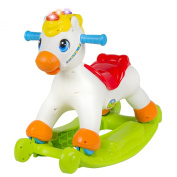 Musical Educational Rocking Horse With Ride On Rollers Learn ABC's, Shapes & Numbers