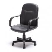 Bellezza© Mid-Back Office Chair PU Leather Ergonomic Desk, Black