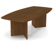 Bestar 240cm . Boat Shaped Conference Table - Tuscany Brown