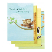 DaySpring Birthday Greeting Cards w Embossed Envelopes - Happy Critters, 12 Count