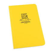 Rite in the Rain All-Weather Soft Cover Notebook, 12cm x 18cm , Yellow Cover, Universal Pattern