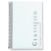 Classified Colours Notebook Frosted Cover 5-1/2 x 8-1/2 White 100 Sheets