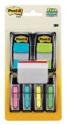 Post-it Flags Page Flag Value Pack, Assorted, 250cm Arrow, 100 2.5cm Flags, 12 5.1cm Filing Tabs