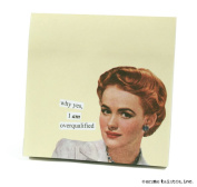 why yes I am overqualified Sticky Notes by anne taintor