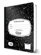 iScholar Composition Book, 100 Sheets, Unruled, 100 Sheets, 25cm x 19cm , Black Marble Cover