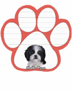 Shih Tzu Black and White Dog Paw Magnetic Note Pads
