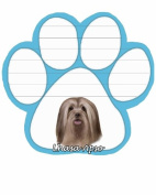 Lhasa Apso Dog Paw Magnetic Note Pads
