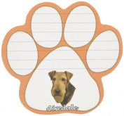 Airedale Dog Paw Magnetic Note Pads