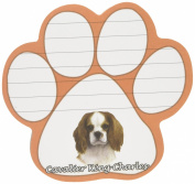 Cavalier King Charles Dog Paw Magnetic Note Pads