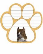 Pit Bull Dog Paw Magnetic Note Pads