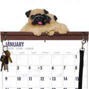 Pug Calendar Caddy & Leash Hook by DogBreedStore.com