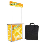 Popup Promotion Counter Table Booth Aluminium Frame Demo Display Kiosk Trade Show