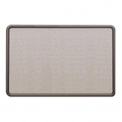 Quartet 7694G - Contour Fabric Bulletin Board, 48 x 36, Grey, Plastic Graphite Frame-QRT7694G