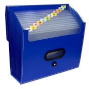 C-Line Products 13-Pocket Ladder Expanding File, Letter Size, Blue, 1/EA, 48015