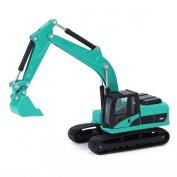 Damara Children Flexible Die Cast Excavator Digger Toys,Blue