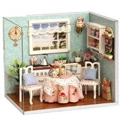 Rylai Wooden Handmade Dollhouse Miniature DIY Kit - Happy Kitches Series Miniature Scene Wooden Dollhouses & Furniture/Parts