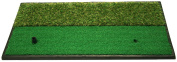 Dual-Surface Hitting/Practise, Chipping and Driving Golf Grass Mat with Fairway and Rough Surfaces