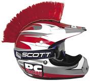 PC Racing Universal Red Helmet Mohawk PCHMRED