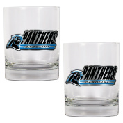 NFL Carolina Panthers Two Piece Rocks Glass Set