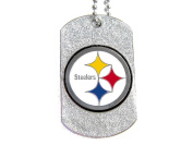 NFL Pittsburgh Steelers Sports Collegiate Team Logo Glitter Necklace Charm Chain Without Border