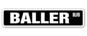BALLER Street Sign made it pro ball player basketball rappers rap balls gift