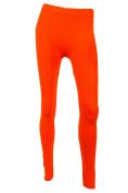 Sofra Women's Full Length Colour Leggings-Burnt Orange