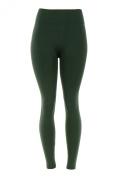 Docele Women's Regular & Plus Size Fleece Lined Leggings-One Size-Hunter Green