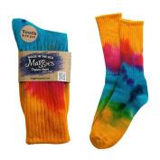 Maggie's Organics - Tie Dye Crew Socks Singles, Size 14-16, 1 pair