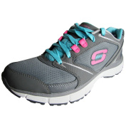 Skechers Agility Rewind Womens Sneakers Charcoal/Blue 9.5
