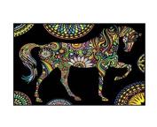 """Colorvelvet 32 x 26.5 x 4 cm """"Horse Mandala"""" Folder"""