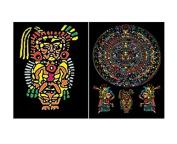 "Colorvelvet 32 x 26.5 x 4 cm A4 ""Aztec"" Ring Binder"