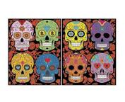 """Colorvelvet 32 x 26.5 x 4 cm """"Skulls"""" Folder"""