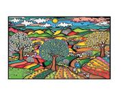 """Colorvelvet 32 x 26.5 x 4 cm """"Spring"""" Folder"""