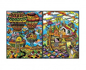"Colorvelvet 32 x 26.5 x 4 cm A4 ""Animals Travelling"" Ring Binder"